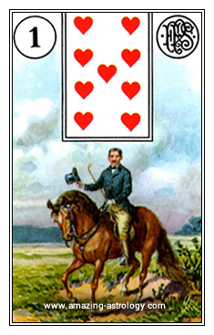 Lenormand Card Meaning 01 The Rider