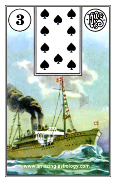 Lenormand Cards Meaning 03 Ship Card
