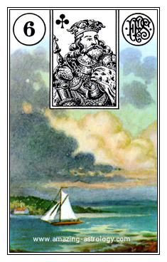 Lenormand Card Meaning 06 Clouds Card