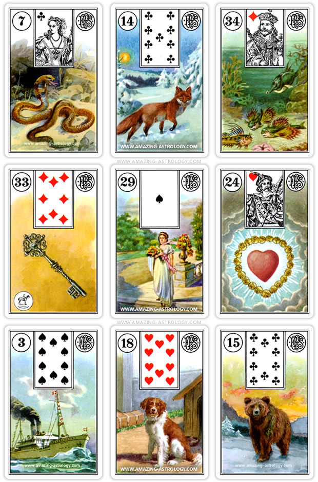 Lenormand Spread 3x3