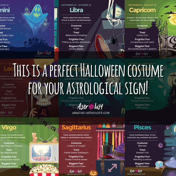 Halloween costume for each astrological sign
